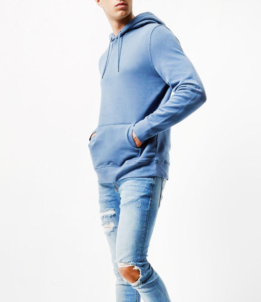 Longline cotton hoodie