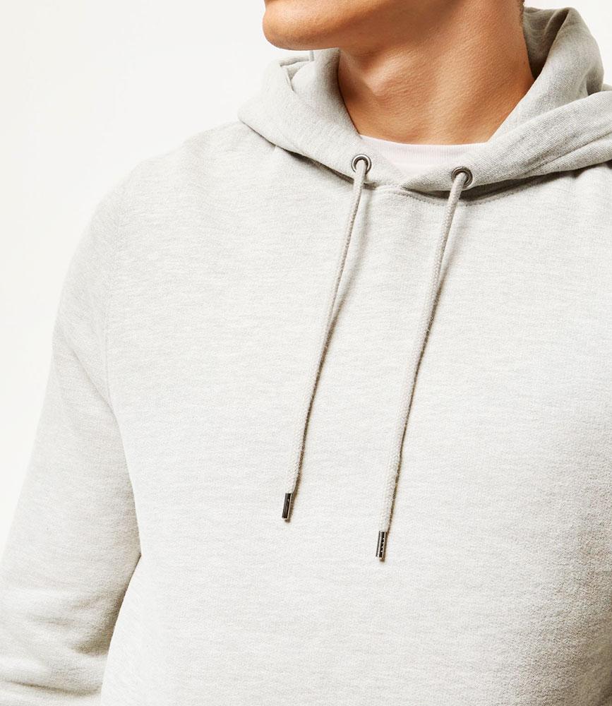 Longline light hoodie